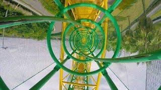Ultra Twister Roller Coaster POV 4K Ultra HD Nagashima Spaland Japan thumbnail