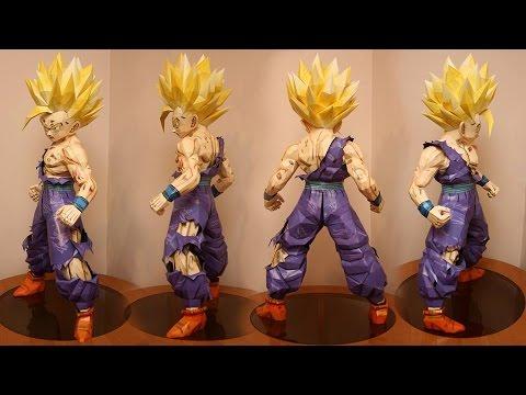 GOHAN Papercraf Dragon Ball - YouTube