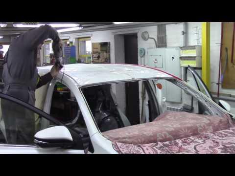 Кузовной ремонт. Тойота RAV4, замена кровли 1. Body repair.