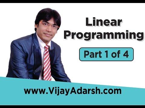Linear Programming Problem (LPP) - 1 of 4 by Vijay Adarsh | StayLearning |(HINDI | हिंदी)