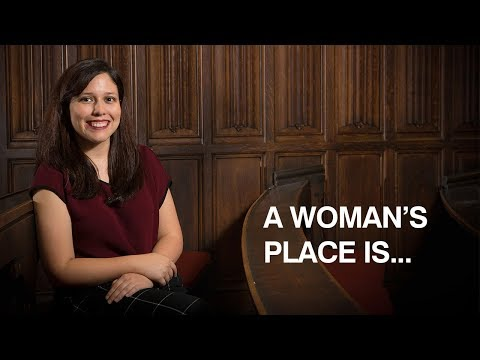 A woman's place is... Celebrating women in history. Gender Equality.