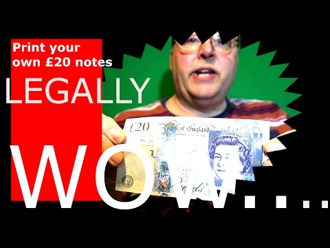How to print your own money - The LEGAL way