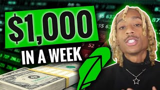How To Make $1,000 A Week on Robinhood | Tutorial For Beginners