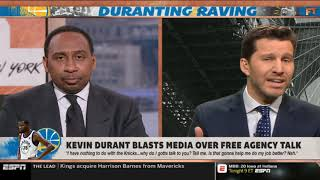 "Stephen A. Smith GRIEVANCES ""Kevin Durant lashes at media amid Knicks rumors 