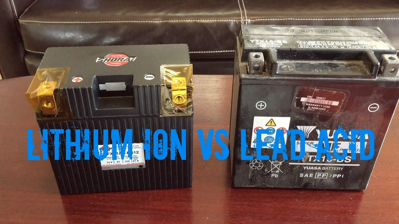 Car Lithium Ion Batteries >> Lithium Ion vs Lead Acid Battery - YouTube