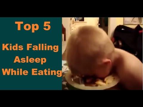 Kids Sleeping While Eating; The Top 5 Kids Falling Asleep While Eating