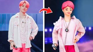5 DIY Barbie Hacks to Look Like Famous Celebrities / Billie Eilish, Rihanna, Gigi Hadid, BTS