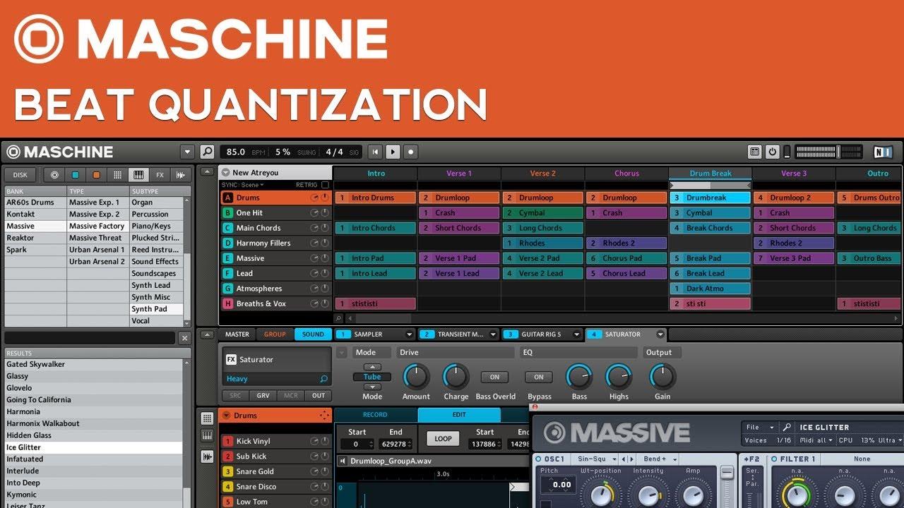 Maschine Tutorial: How to Quantize Beats