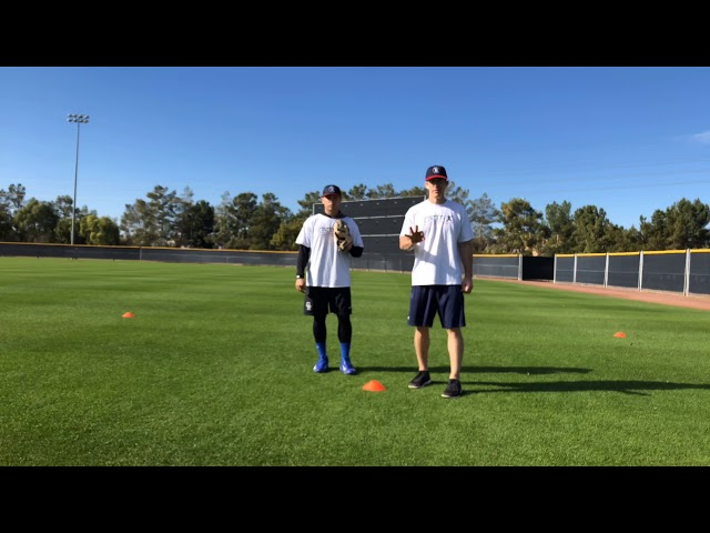 Outfield Fly Ball Angle Drill (3 cones)