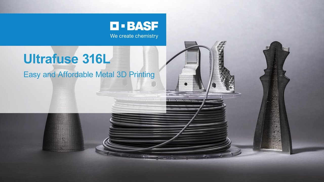 BASF Launches Steel Filament: Ultrafuse 316L
