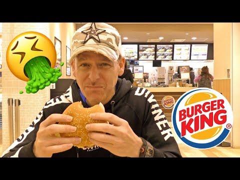 日本のバーガーキングを25年ぶりに食べてみたら今までで一番まずいハンバーガーだった!アメリカ人として恥ずかしい〜 Worst Burger I've Ever Eaten Burger King JP