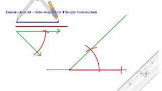 Compass Construction 8 - SAS Triangle Construction