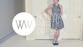 How to Make a Holiday Party Dress | WITHWENDY