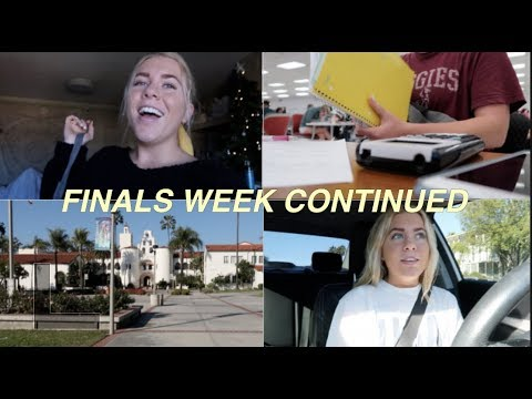 SDSU Finals Week Vlog (part two)