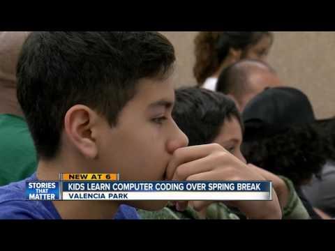 Kids are learning coding over spring break