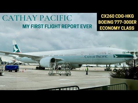 Cathay Pacific CX260 Paris CDG ✈ Hong Kong HKG (BOEING 777-300ER - Economy Class)