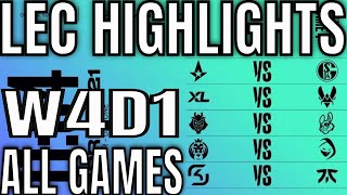 LEC Highlights ALL GAMES W4D1 Spring 2021