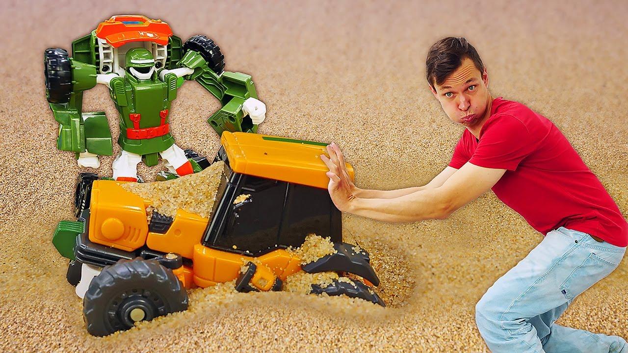 Видео онлайн - Самый крутой ТОБОТ! Соревнования машинок роботов! - Новые игры Трансформеры