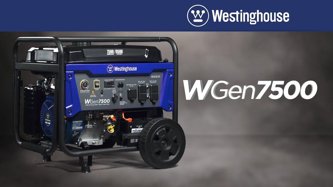 WGen7500 Portable Generator by Westinghouse on