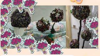 DIY how to mąke flower ball decorative basketball 🏀