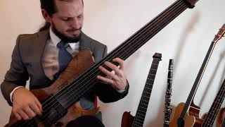 Benny Goodman cover - Bugle Call Rag solo on fretless bass