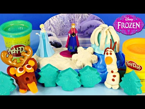 NEW Play Doh Frozen Sparkle Snow Dome Playdough Ice Castle Elsa Anna Olaf Sven Play-Doh Stamps