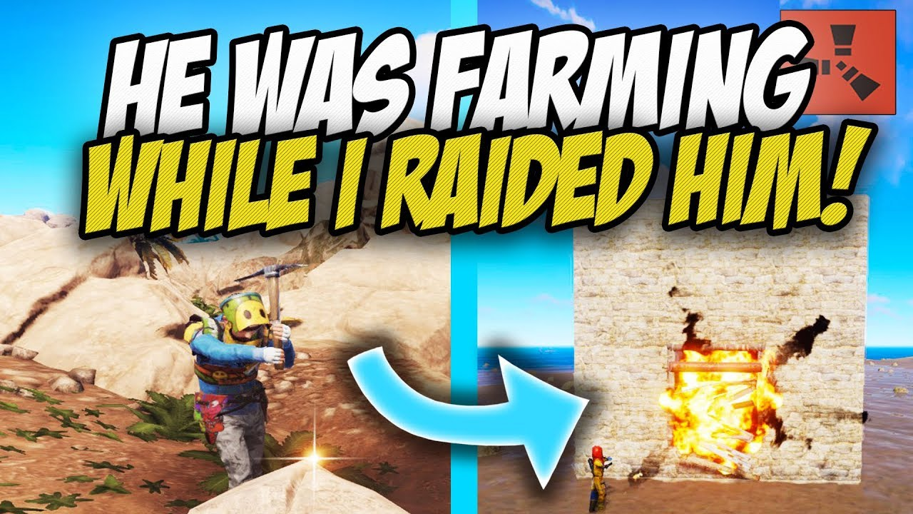 bf917286447b80 Raiding INSANELY Rich Player while he was out FARMING! - Rust Solo ...