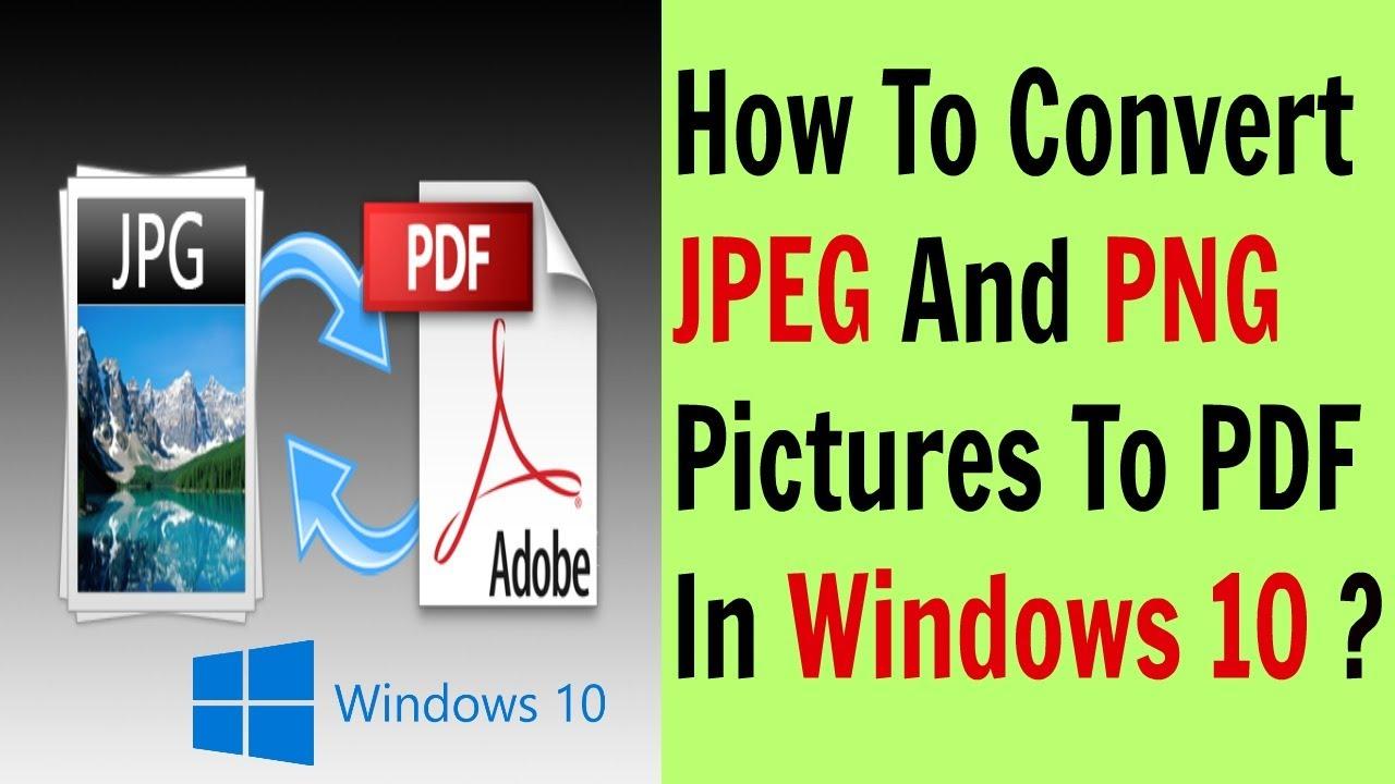 how to convert jpg to pdf on windows 10