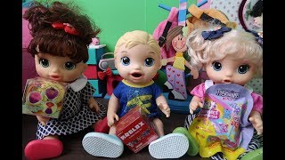 MINI CUPCAKE ROBLOX FINGERLINGS MINI SURPRISES BABY ALIVE BEL, LUISA and BABY ALIVE BOY PATTI