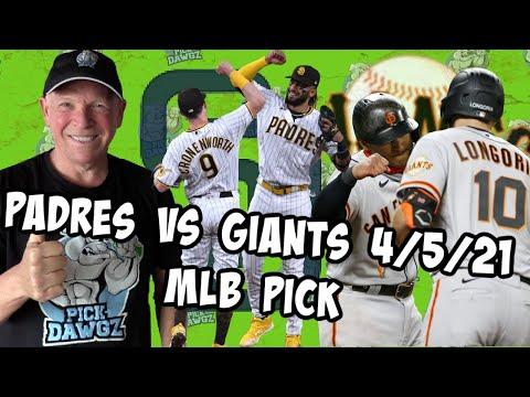 San Diego Padres vs San Francisco Giants 4/5/21 MLB Pick and Prediction MLB Tips Betting Pick