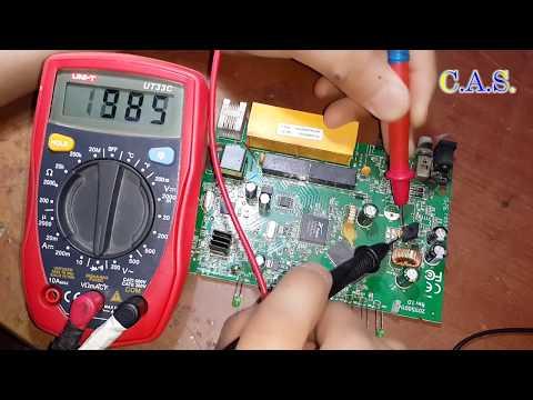 Ремонт Wi-Fi роутера TP LinK TD-W8961ND, подключили к 220 Вольт