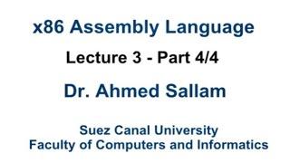 x86 assembly language لغة التجميع lecture 3 part 4 4