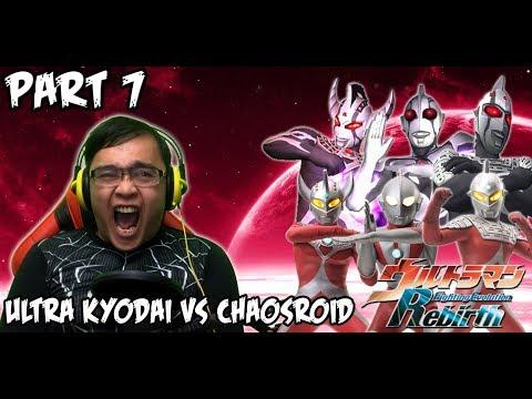 Ultraman Fighting Evolution REBIRTH (PS2) Part 7 - ULTRA KYODAI VS CHAOSROID
