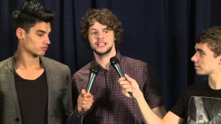 Behind-the-Scenes Interview With The Wanted at the AMAs 2012