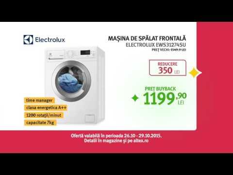 Reclama ALTEX -Mașină de spălat ELECTROLUX octombrie 2015