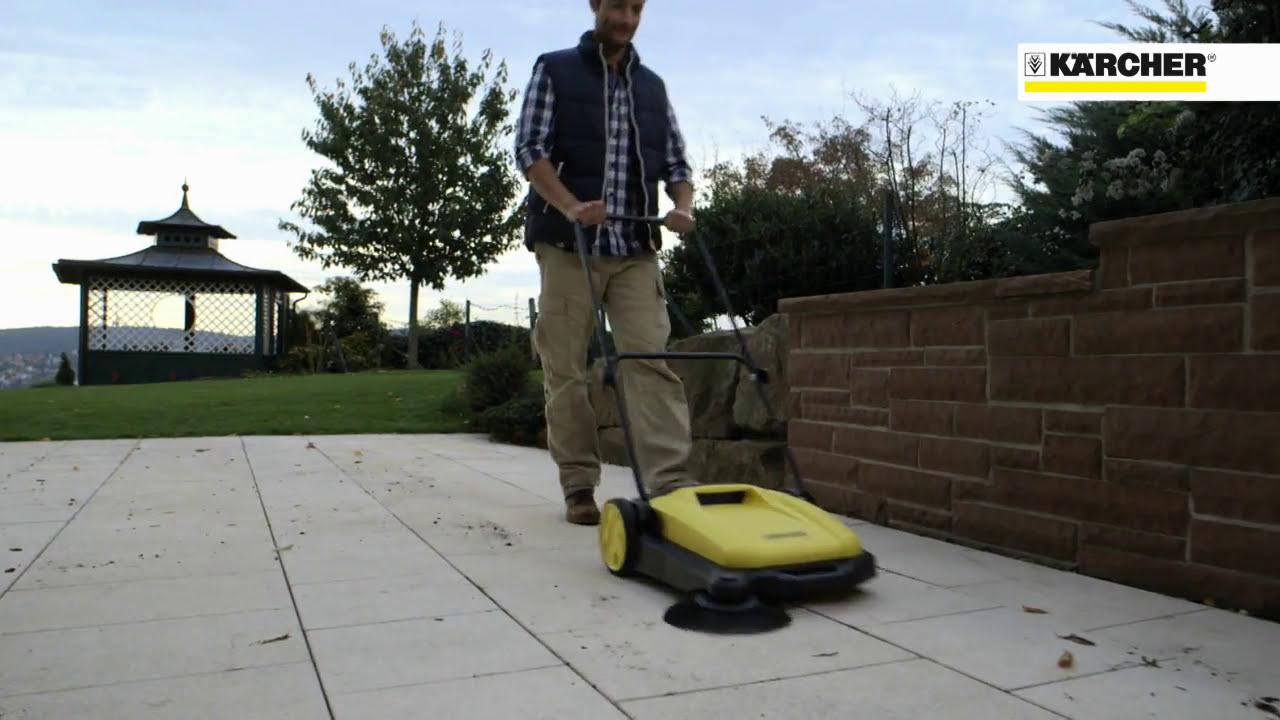 德國凱馳 S550手推式掃地機 - YouTube