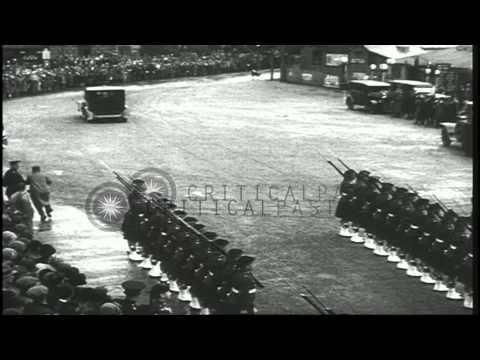 King George V reviews honor guard and James Ramsay MacDonald forms his cabinet in...HD Stock Footage