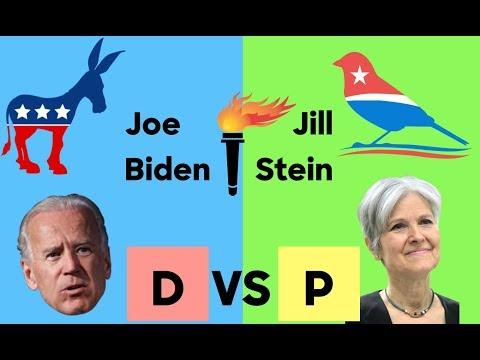2020 Election Prediction   Democratic Party vs Progressive Party   Joe Biden vs Jill Stein