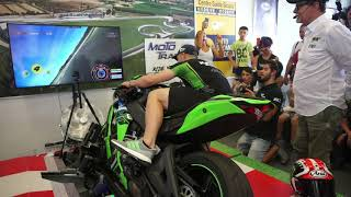 Jonathan Rea, SBK World Champion riding a ZX10RR on Moto Trainer