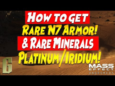How to get N7 Armor and Rare Minerals Platinum and Iridium in Mass Effect Andromeda Campaign