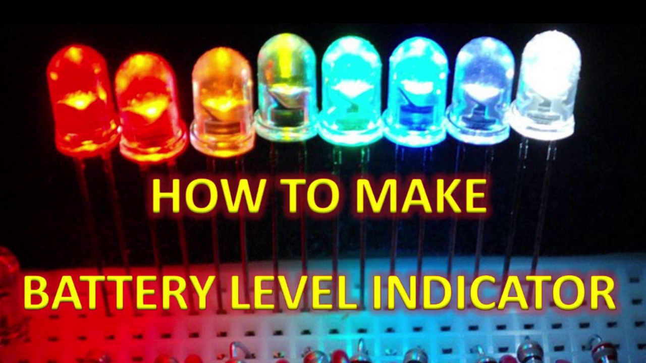 How To Make Battery Level Indicator Youtube V Guard Inverter Circuit Diagram