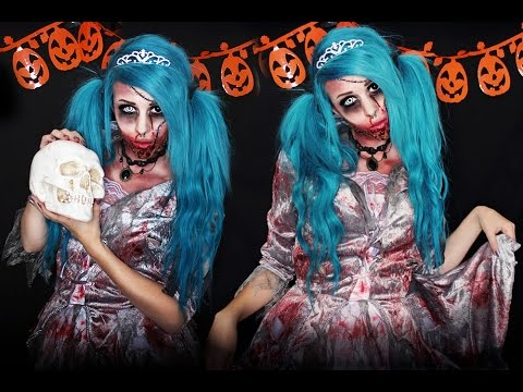 ZOMBIE DOLL | Halloween Makeup Tutorial - YouTube