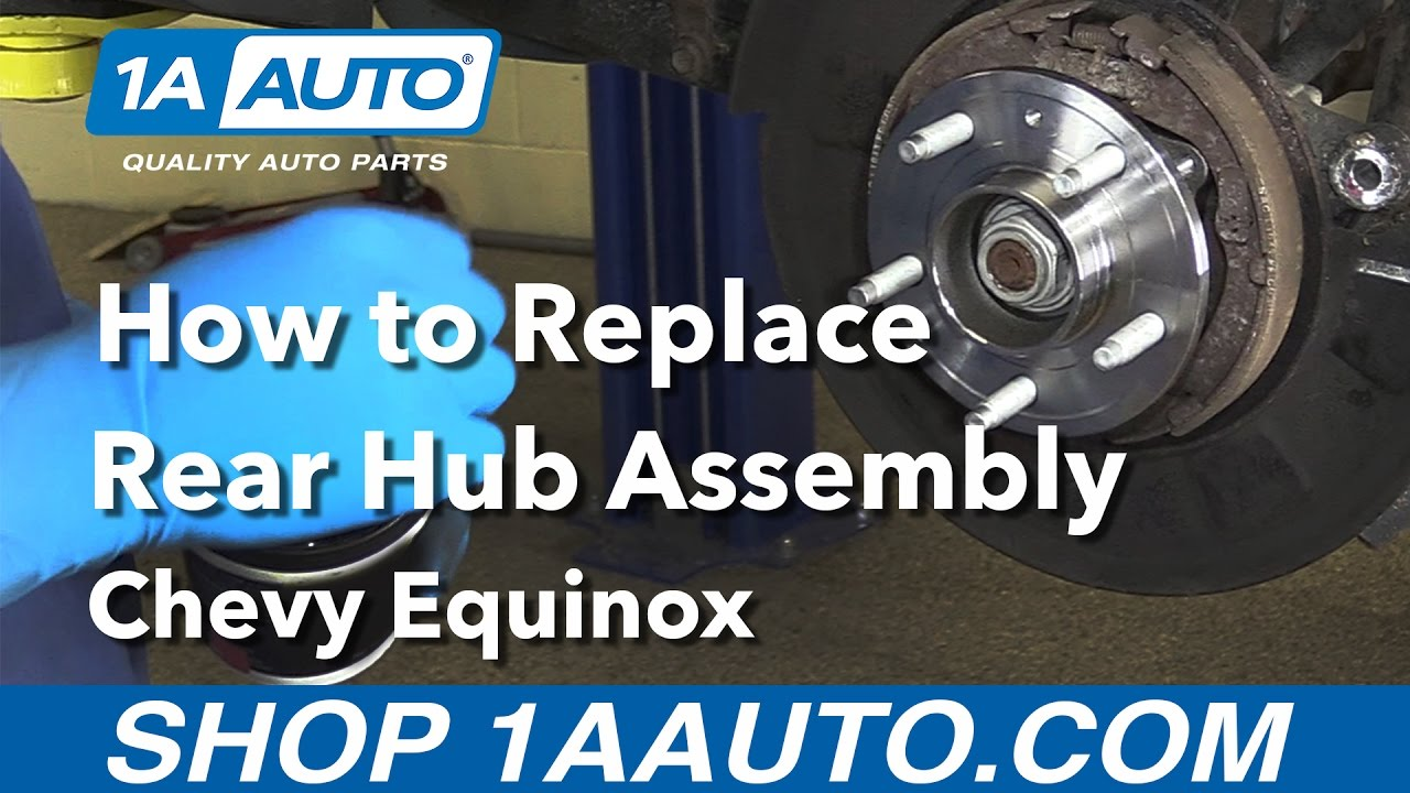 How To Replace Rear Hub 05 09 Chevy Equinox Youtube