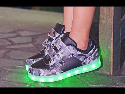 Детские кроссовки со светодиодной подсветкой