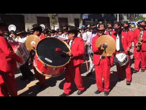 Procesión Bandas Glorias del Tupac, Santa Isabel, Show Tupac Amaru y Otros