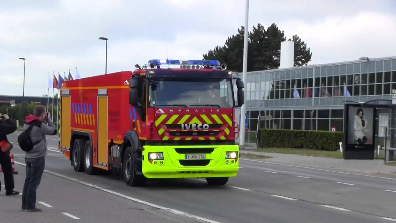 Brandweer Zaventem Uitruk Tankwagen Iveco Naar Reinigen