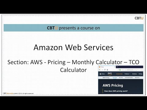 1b  AWS Pricing Simple Monthly calculator - TCO Calculator