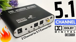 HD Audio Rush - 5.1 Dolby Digital Decoder | TV to Home Theatre Connection