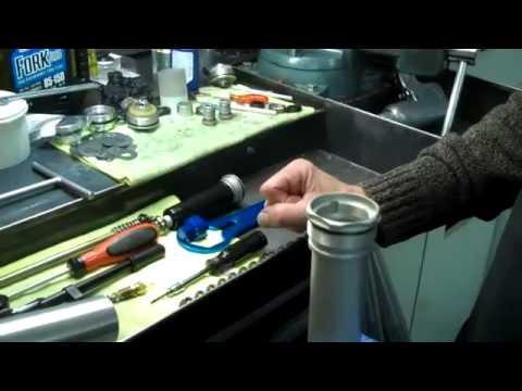 how to service wp ktm husaberg closed chamber bladder forks.mp4