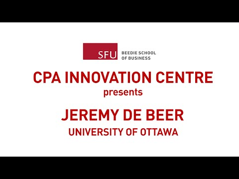 Jeremy De Beer: Intellectual Property Strategies for Open Innovation